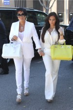 4. To create a slick look match white with white like the Kardashians.