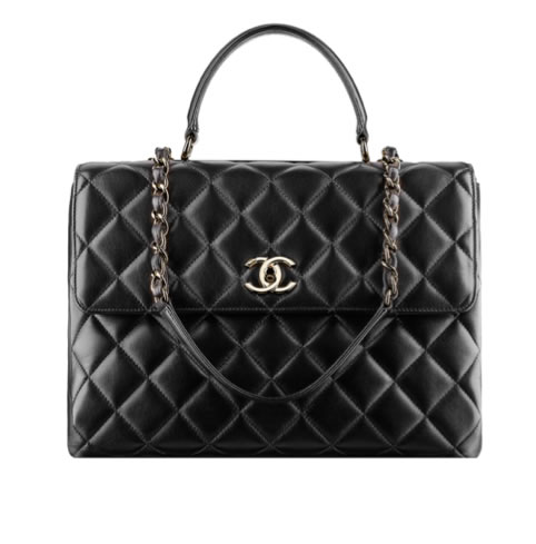 Classic Black Chanel Trendy Tote Bag