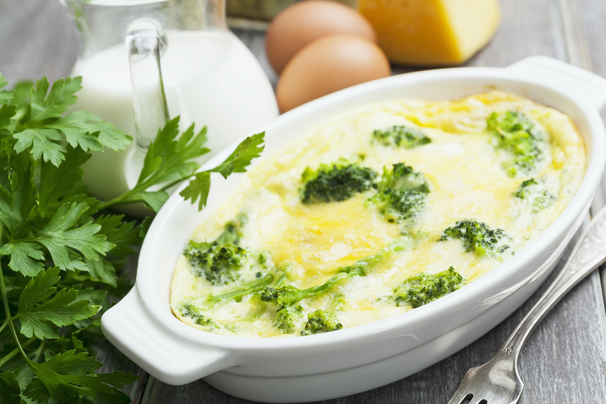 Baked Broccoli with Cheese