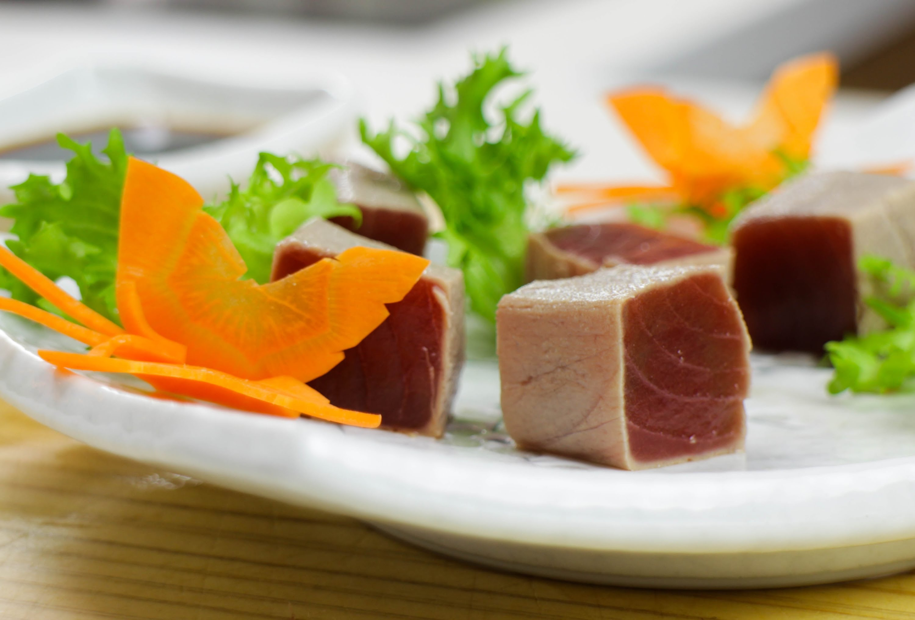 """Tuna Cubes with Ginger """"Inspiration"""""""