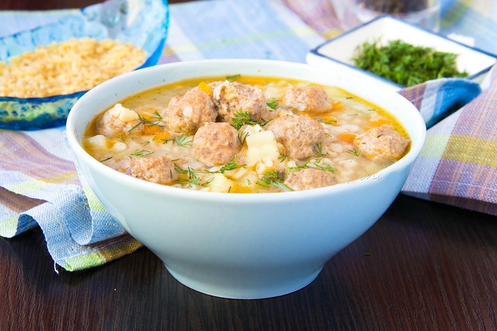 """Soup with Turkey meat balls """"Perfect Storm"""""""